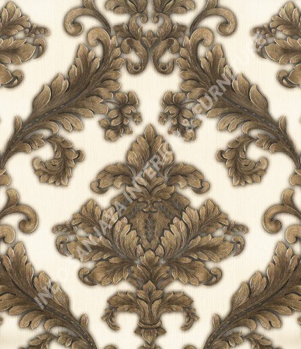 wallpaper Celio:360003 corak Klasik / Batik (Damask) warna Cream