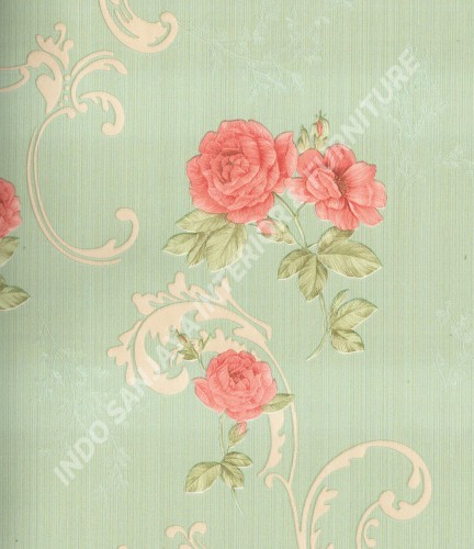 wallpaper Celio:363403 corak Klasik / Batik (Damask) warna Cream