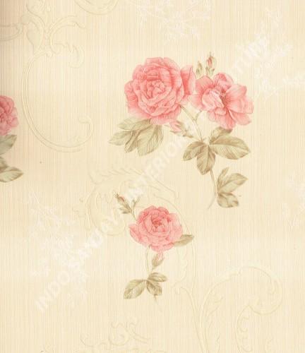 wallpaper Celio:363402 corak Klasik / Batik (Damask) warna Cream