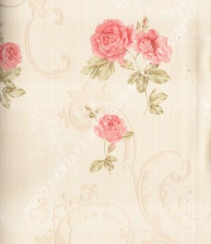 wallpaper Celio:363401 corak Klasik / Batik (Damask) warna Cream