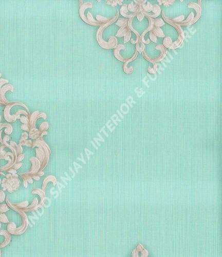 wallpaper Wallpaper Klasik Batik (Damask) 363307:363307 corak  warna