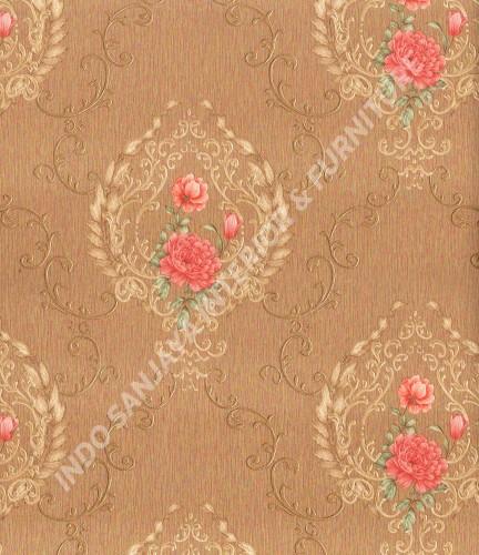 wallpaper Celio:361002 corak Klasik / Batik (Damask) warna Cream