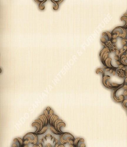 wallpaper Celio:363301 corak Klasik / Batik (Damask) warna Cream