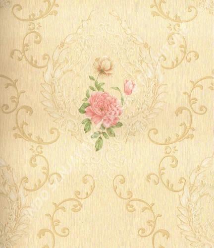 wallpaper Wallpaper Klasik Batik (Damask) 361003:361003 corak  warna