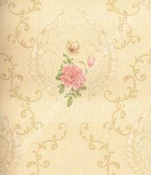 wallpaper Celio:361003 corak Klasik / Batik (Damask) warna Cream
