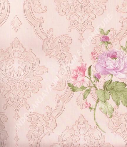 wallpaper Wallpaper Klasik Batik (Damask) 362302:362302 corak  warna