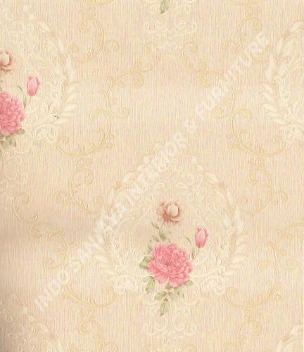 wallpaper Wallpaper Klasik Batik (Damask) 361006:361006 corak  warna