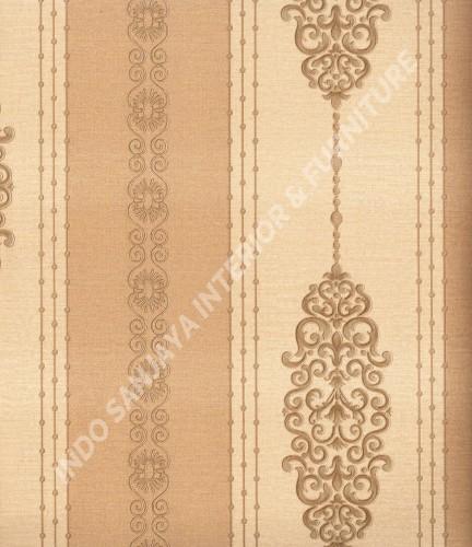 wallpaper Celio:361505 corak Klasik / Batik (Damask) warna Cream