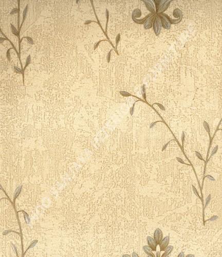wallpaper MADONA:MD8035 corak Bunga ,Klasik / Batik (Damask) warna Putih