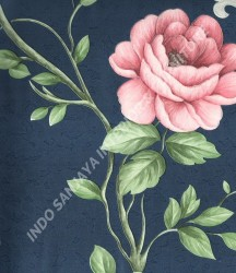 wallpaper MADONA:MD3575 corak Bunga,Minimalis / Polos warna Biru