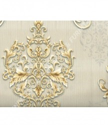 wallpaper MADONA:MD3513 corak Minimalis / Polos warna Abu-Abu,Cream,Coklat