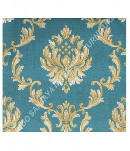 wallpaper MADONA:MD8042 corak Klasik / Batik (Damask) warna Putih