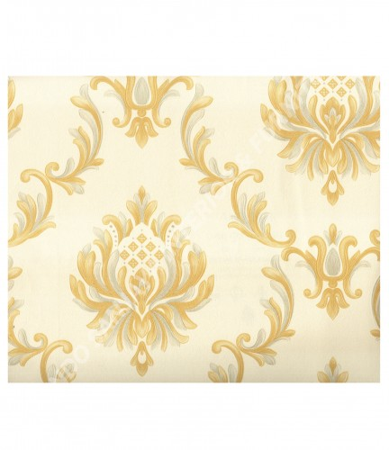 wallpaper MADONA:MD8040 corak Klasik / Batik (Damask) warna Putih
