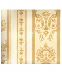 wallpaper MADONA:MD3531 corak Klasik / Batik (Damask) warna Cream