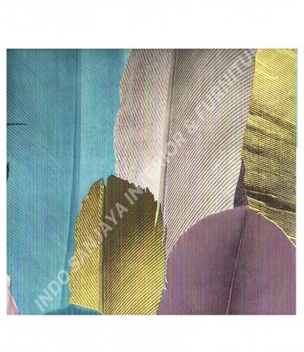 wallpaper MADONA:MD6001 corak Daun - Daunan ,Anak warna Kuning ,Hijau ,Biru