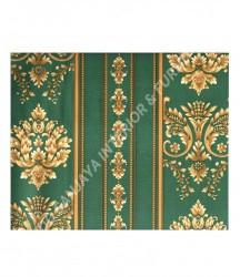 wallpaper MADONA:MD3535 corak Klasik / Batik (Damask) warna Hijau,Cream