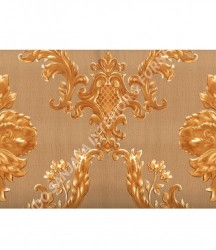 wallpaper MADONA:MD3503 corak Klasik / Batik (Damask) warna Hijau,Cream