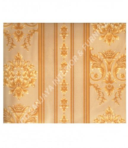 wallpaper MADONA:MD3533 corak Klasik / Batik (Damask) warna Hijau ,Cream