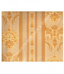 wallpaper MADONA:MD3533 corak Klasik / Batik (Damask) warna Hijau,Cream