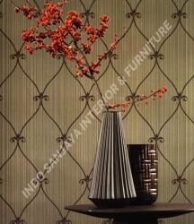 wallpaper Kansai:13-22156 corak Klasik / Batik (Damask) warna Abu-Abu