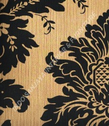 wallpaper Kansai:13-22129 corak Klasik / Batik (Damask) warna Abu-Abu