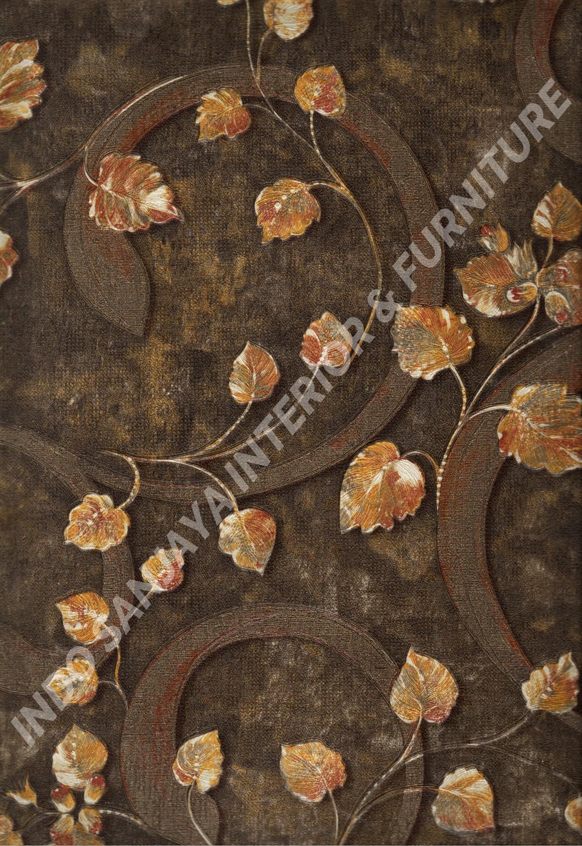 wallpaper   Wallpaper Daun Daunan DL10405:DL10405 corak  warna