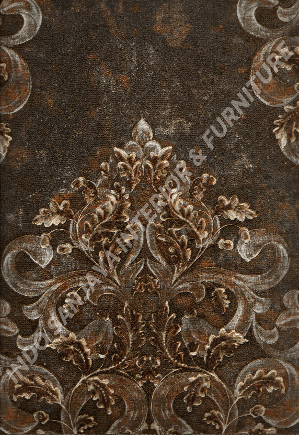 wallpaper   Wallpaper Klasik Batik (Damask) DL10301:DL10301 corak  warna
