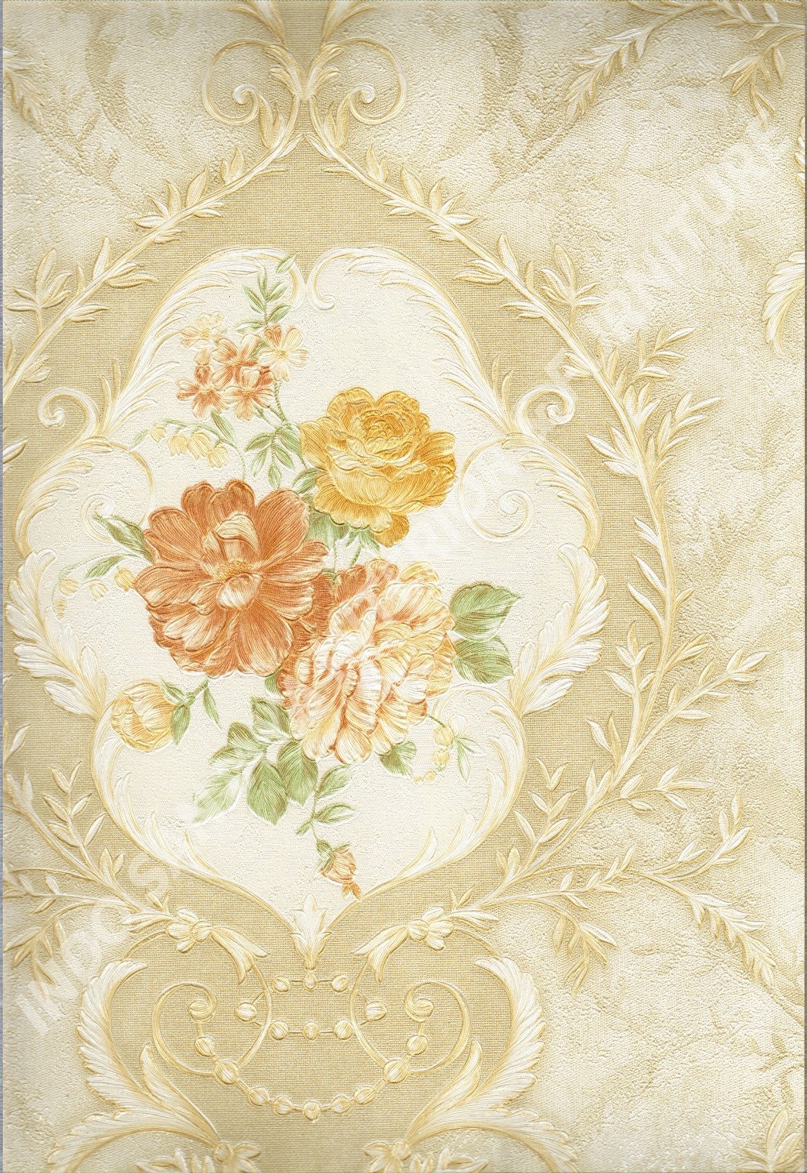wallpaper   Wallpaper Bunga DL10501:DL10501 corak  warna