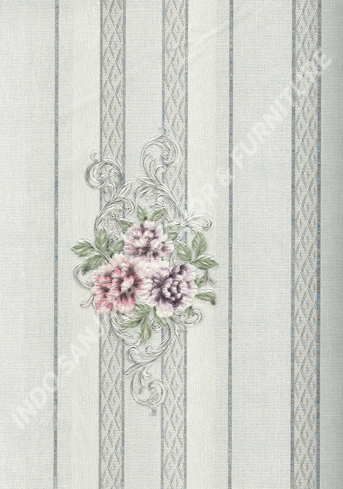 wallpaper   Wallpaper Bunga 5004-3:5004-3 corak  warna