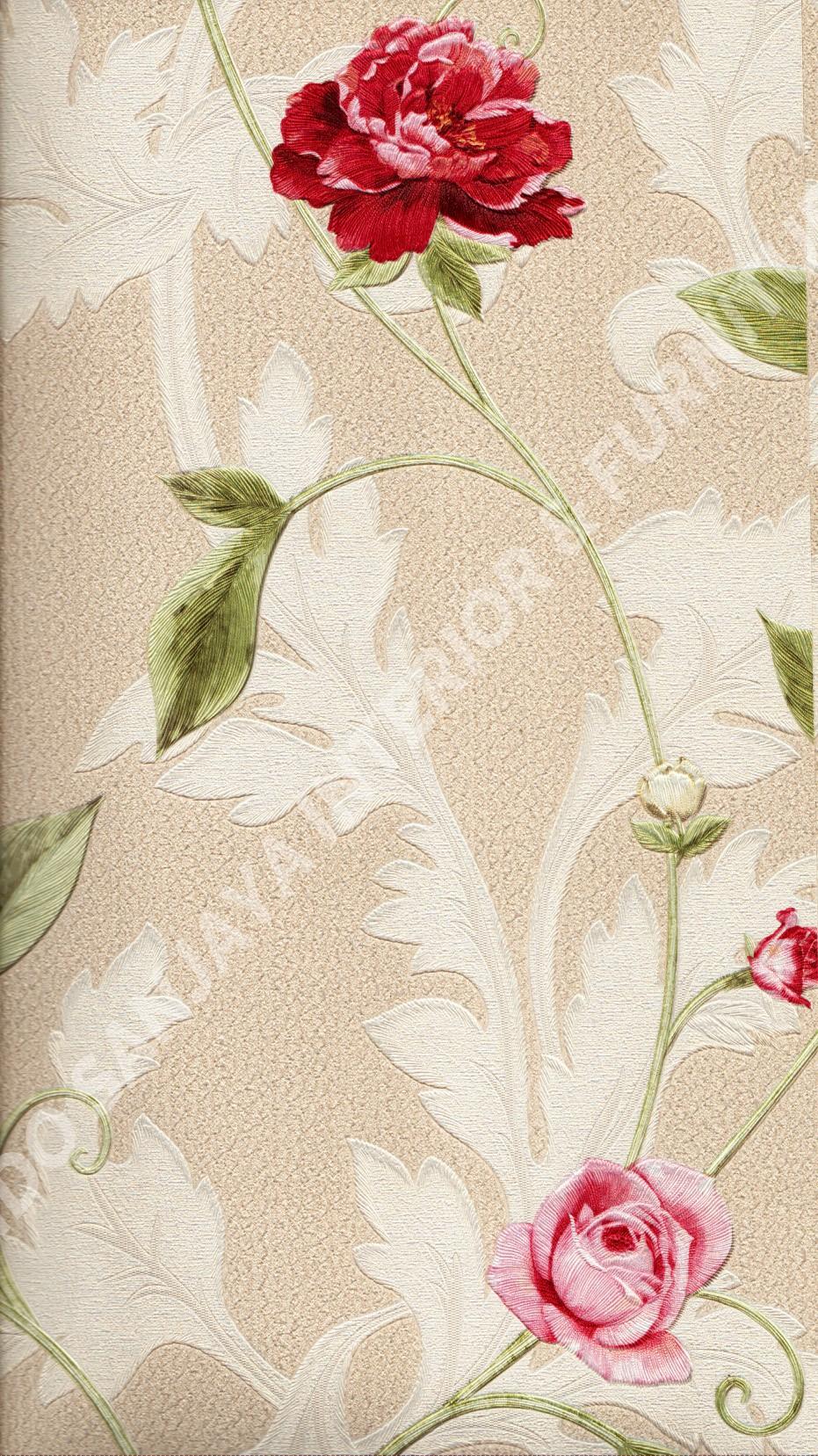 wallpaper   Wallpaper Bunga 5013-4:5013-4 corak  warna