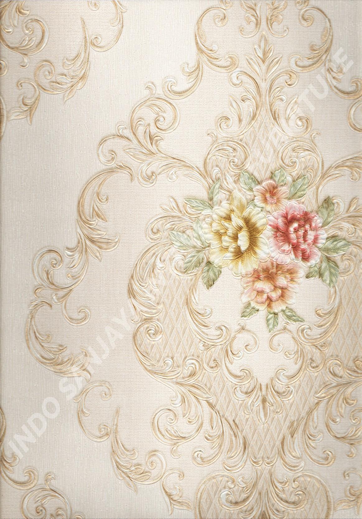 wallpaper   Wallpaper Bunga 5003-2:5003-2 corak  warna