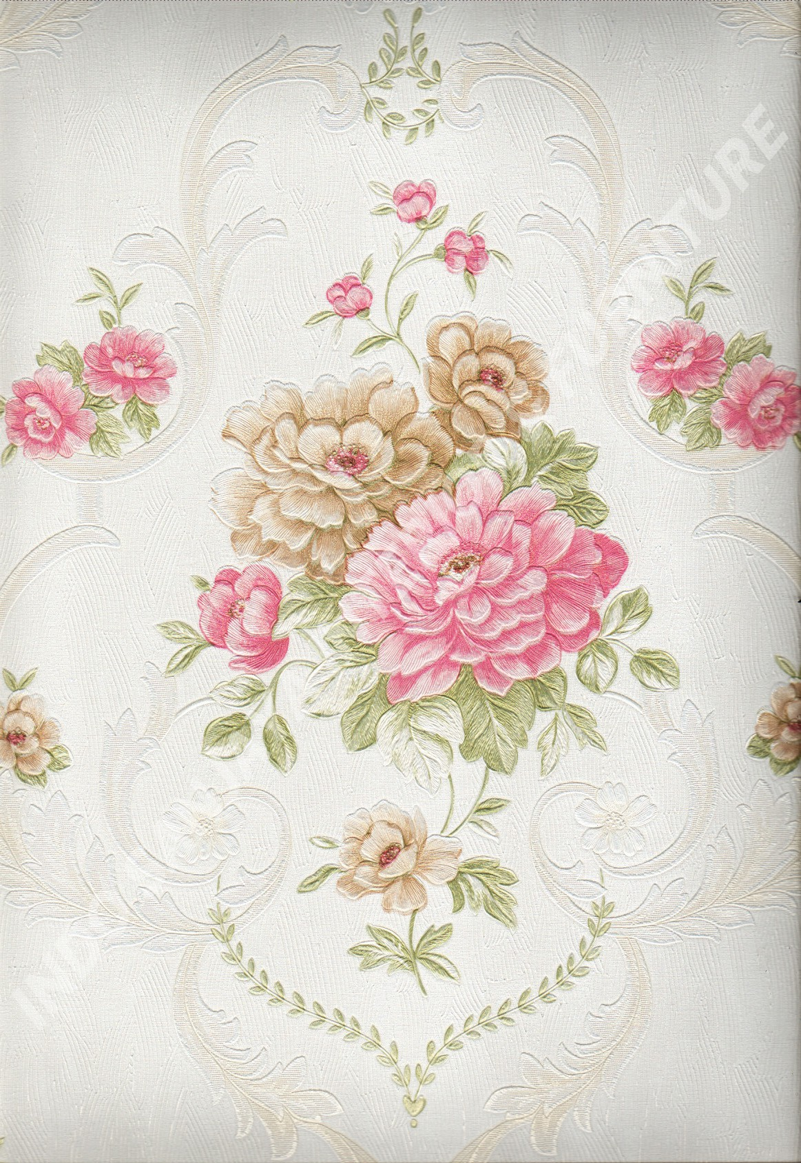 wallpaper   Wallpaper Bunga 8810:8810 corak  warna