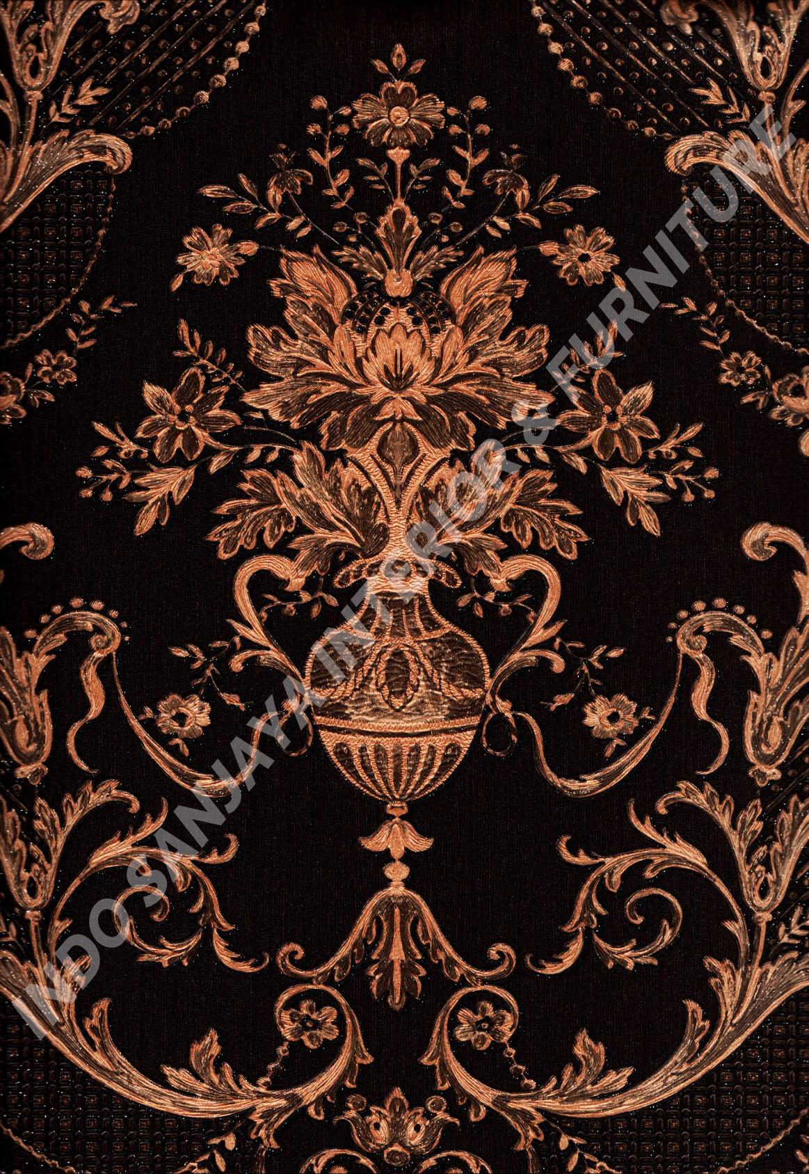wallpaper   Wallpaper Klasik Batik (Damask) 81085-9:81085-9 corak  warna