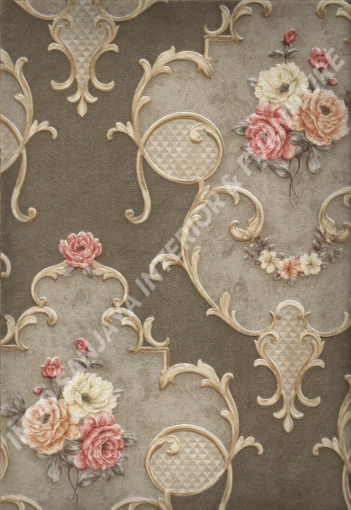 wallpaper   Wallpaper Bunga YG80105:YG80105 corak  warna