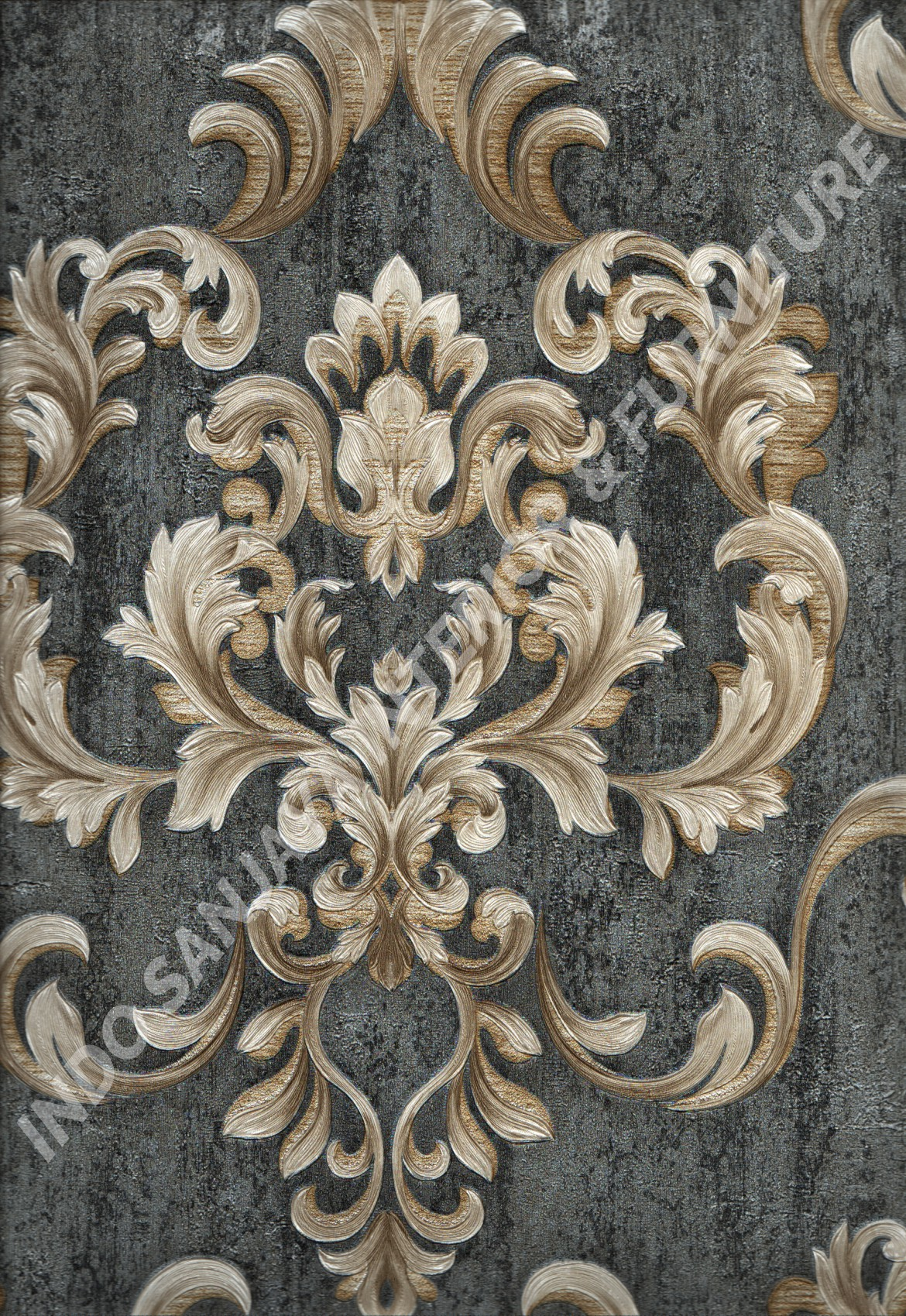 wallpaper   Wallpaper Klasik Batik (Damask) YG80505:YG80505 corak  warna