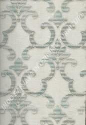 wallpaper SELECTION:10028-1 corak Klasik / Batik (Damask),Minimalis / Polos warna Putih,Abu-Abu,Hijau,Cream