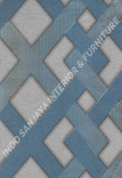 wallpaper SELECTION:10031-3 corak Modern / 3D warna Biru