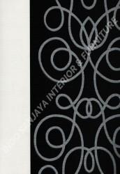 wallpaper PHOENIX:76117-1 corak Bulat / Geometri,Garis warna Hitam