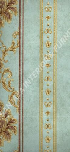 wallpaper MELBOURNE:HR-16166 corak Klasik / Batik (Damask) ,Garis warna Biru ,Coklat