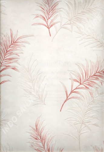wallpaper MELBOURNE:HR-16003 corak Daun - Daunan warna Cream ,Pink