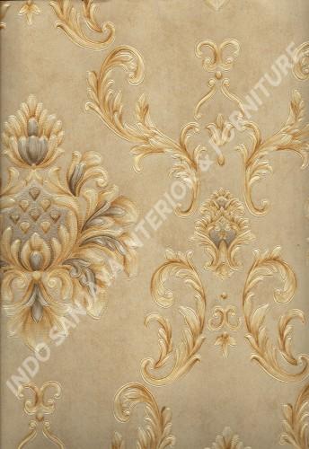 wallpaper MELBOURNE:HR-16125 corak Klasik / Batik (Damask) warna Coklat