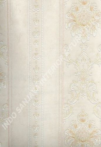 wallpaper MELBOURNE:HR-16161 corak Klasik / Batik (Damask) ,Garis warna Cream