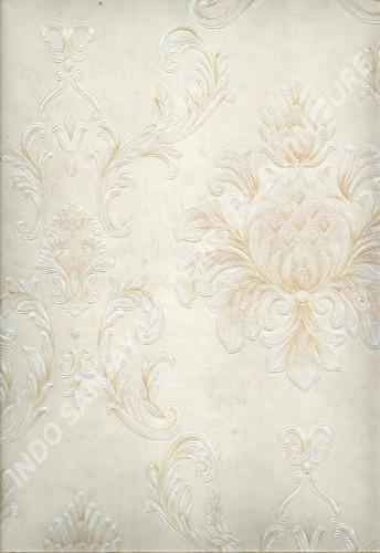 wallpaper MELBOURNE:HR-16121 corak Klasik / Batik (Damask) warna Abu-Abu