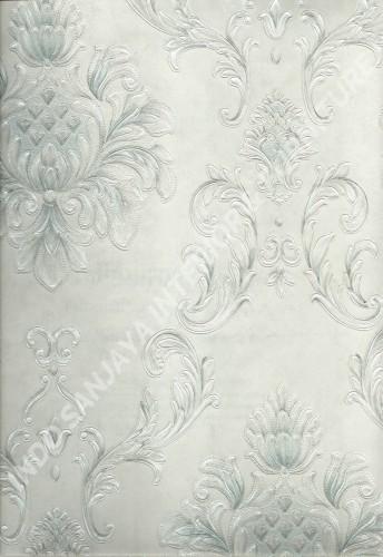 wallpaper MELBOURNE:HR-16123 corak Klasik / Batik (Damask) warna Abu-Abu