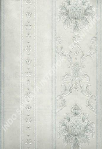 wallpaper MELBOURNE:HR-16163 corak Klasik / Batik (Damask) warna Abu-Abu