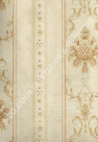 wallpaper MELBOURNE:HR-16162 corak Klasik / Batik (Damask) ,Garis warna Cream