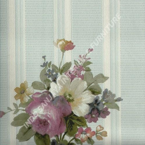 wallpaper   Wallpaper Bunga 70022-2:70022-2 corak  warna