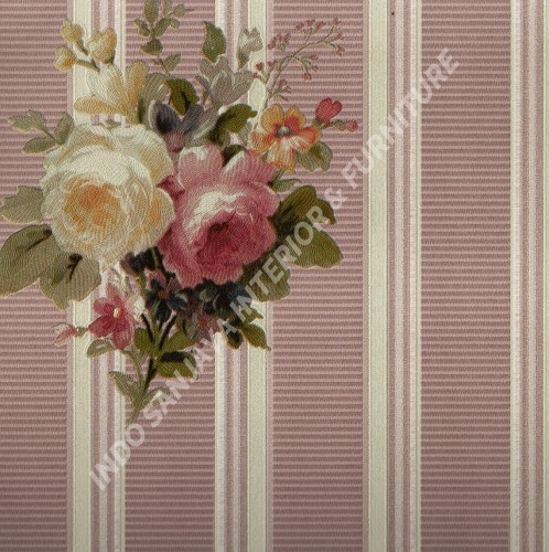 wallpaper   Wallpaper Bunga 70022-4:70022-4 corak  warna