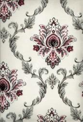 wallpaper LEVANTE:L444-09 corak Klasik / Batik (Damask) warna Abu-Abu,Merah