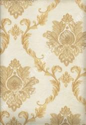 wallpaper LEVANTE:L444-11 corak Klasik / Batik (Damask) warna Cream,Coklat